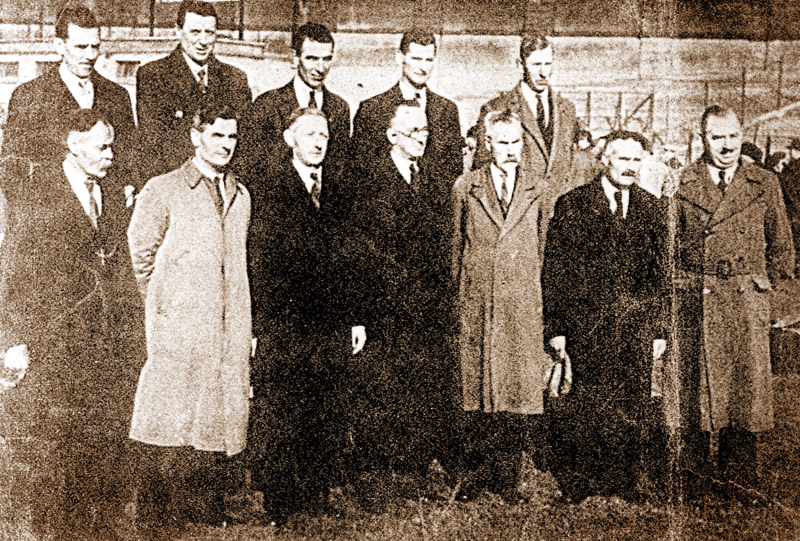 Maynooth Company of the Irish Volunteers at a reunion of the GPO Garrison on the 23rd October 1938 in Croke Park, Dublin